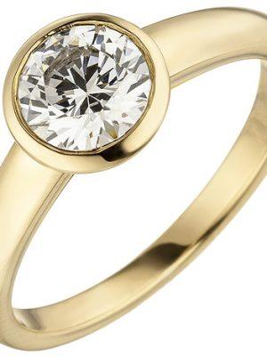 SIGO Damen Ring 585 Gold Gelbgold 1 Diamant Brillant 1,0 ct. Diamantring Solitär