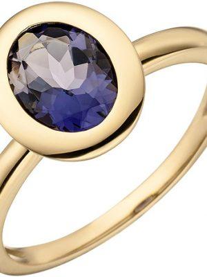 SIGO Damen Ring 585 Gold Gelbgold 1 Iolith Goldring Iolithring