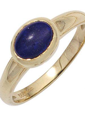 SIGO Damen Ring 585 Gold Gelbgold 1 Lapislazuli blau Goldring