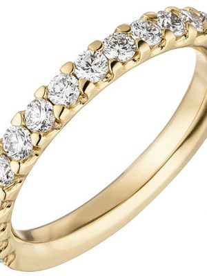 SIGO Damen Ring 585 Gold Gelbgold 14 Diamanten Brillanten 0,56ct. Diamantring