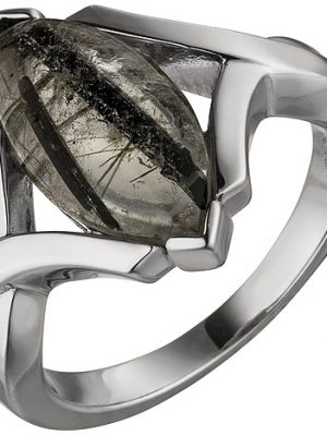 SIGO Damen Ring 925 Sterling Silber 1 Turmalinquarz