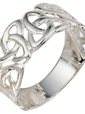 SIGO Damen Ring breit 925 Sterling Silber Silberring