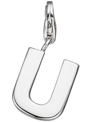 SIGO Einhänger Charm Buchstabe U 925 Sterling Silber Anhänger für Bettelarmband