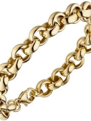 SIGO Erbsarmband 925 Sterling Silber gold vergoldet 21 cm Armband