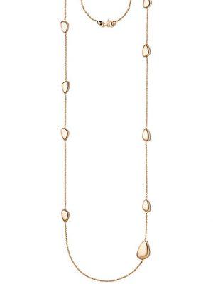 SIGO Halskette Kette 585 Gold Rotgold 90 cm Rotgoldkette Karabiner