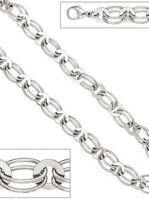 SIGO Halskette Kette 925 Sterling Silber rhodiniert 45 cm Silberkette Karabiner