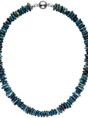 SIGO Halskette Kette Apatit 45 cm Apatitkette Steinkette Edelsteinkette