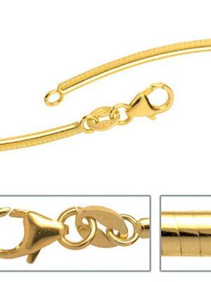 SIGO Halsreif 333 Gelbgold 2 mm 42 cm Gold Kette Halskette Goldhalsreif Karabiner