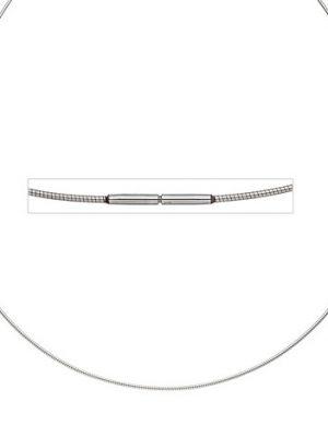 SIGO Halsreif Edelstahl 1,0 mm 42 cm Halskette Kette