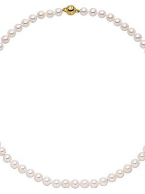 SIGO Kette mit Akoya Perlen und 925 Silber vergoldet 43 cm Perlenkette