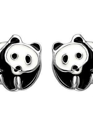 SIGO Kinder Ohrstecker Panda 925 Sterling Silber Ohrringe Silberohrringe
