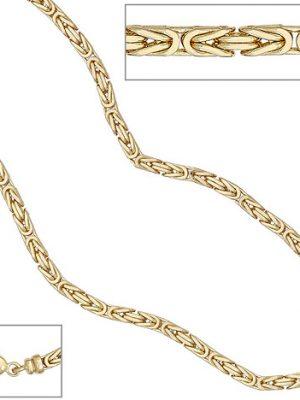 SIGO Königskette 585 Gelbgold 3,2 mm 80 cm Gold Kette Halskette Goldkette Karabiner