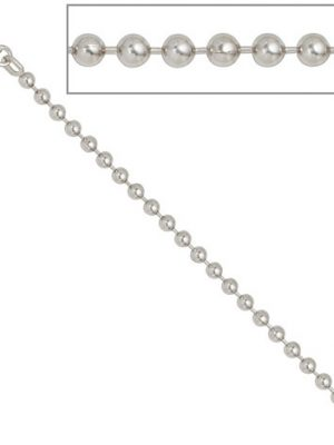 SIGO Kugelkette 925 Silber 3,0 mm 60 cm Halskette Kette Silberkette Karabiner