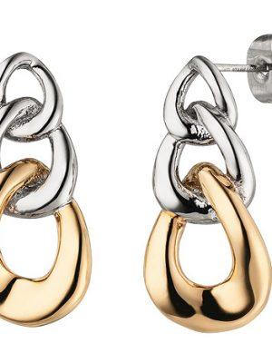 SIGO Ohrhänger Edelstahl mit rotgoldfarbener PVD-Beschichtung Ohrringe