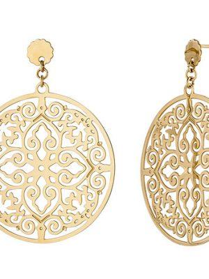 SIGO Ohrhänger rund Edelstahl gold farben beschichtet Ohrringe