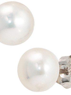 SIGO Ohrstecker 925 Sterling Silber 2 Süßwasser Perlen Ohrringe Perlenohrstecker