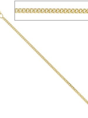 SIGO Panzerkette 585 Gelbgold 1,7 mm 40 cm Gold Kette Halskette Goldkette Federring
