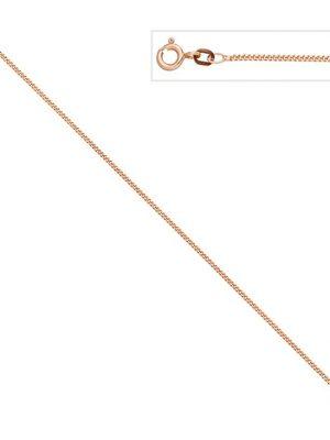 SIGO Panzerkette 925 Sterling Silber rotgold vergoldet 1,3 mm 50 cm Kette Halskette