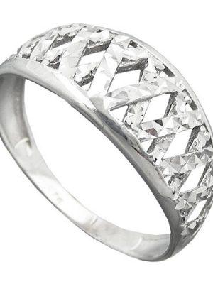 SIGO Ring diamantiert rhodiniert, Silber 925
