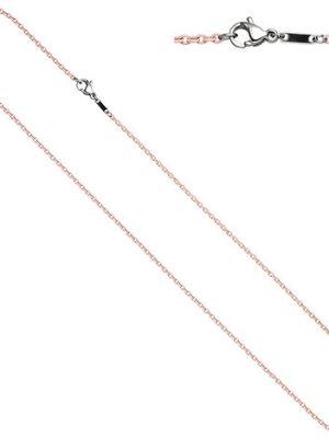 SIGO Rundankerkette Edelstahl rosa lackiert 45 cm Kette Halskette Karabiner