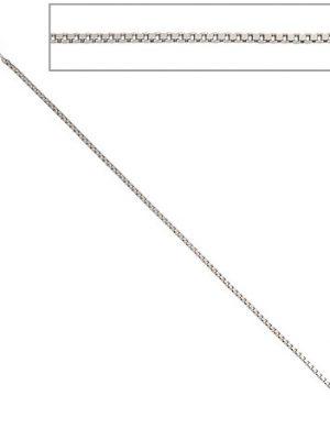 SIGO Venezianerkette 333 Weißgold 0,9 mm 50 cm Gold Kette Halskette Weißgoldkette