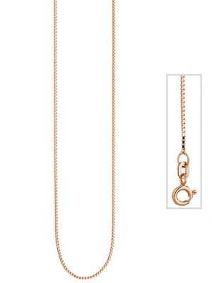 SIGO Venezianerkette 925 Silber rotgold vergoldet 0,8 mm 42 cm Kette Halskette