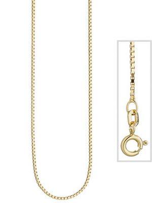 SIGO Venezianerkette 925 Sterling Silber gold vergoldet 1,3 mm 50 cm Kette Halskette