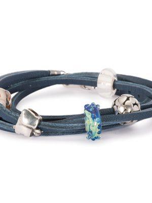 Trollbeads Armband 925 Silber blau 36 cm
