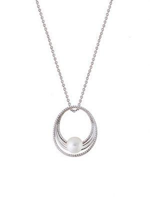 XENOX Anhänger 925 Silber Zirkonia Perle