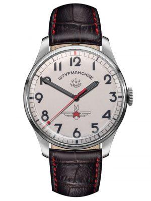 2609-3745200 Herren-Armbanduhr Gagarin Vintage Retro Sturmanskie Weiß