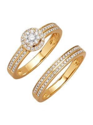 2tlg. Ring-Set Diemer Diamant Weiß