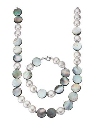 2tlg. Schmuck-Set Diemer Perle Multicolor