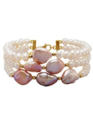 3rhg. Armband Diemer Perle Multicolor