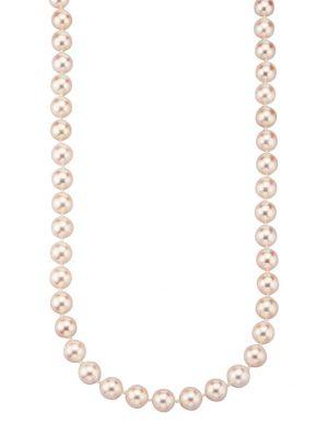 Akoya-Zuchtperlen-Kette Diemer Perle Weiß