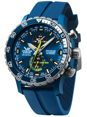 Alarm-Chronograph Expedition Everest Underground Vostok Europe Blau