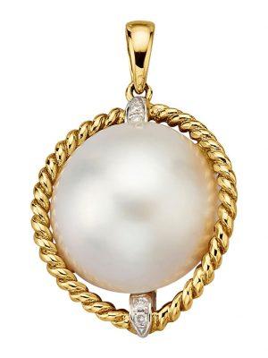 Anhänger Diemer Perle Weiß