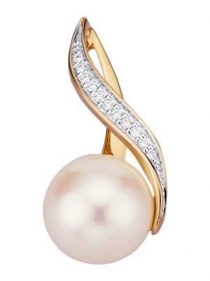 Anhänger Diemer Perle Weißgoldfarben