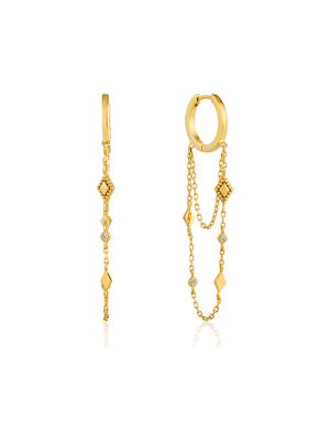 Ania Haie Creole Bohemia Chain Drop Mini Hoops E016-03G