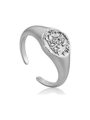 Ania Haie Damenring Emblem Adjustable Signet Ring R009-03H