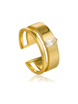 Ania Haie Damenring Glow Wide Adjustable Ring R018-02G