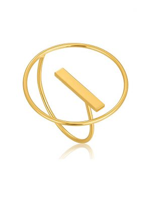 Ania Haie Damenring Modern Circle Adjustable Ring R002-04G