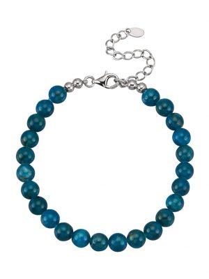 Apatit-Armband Diemer Farbstein Blau