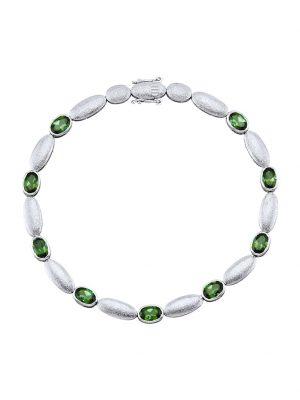 Armband Diemer Platin Grün