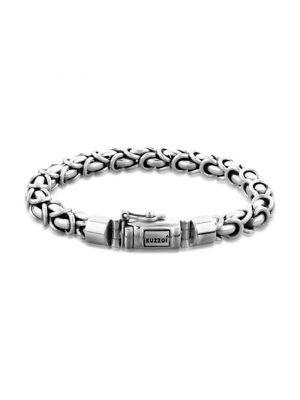 Armband Herren Panzerarmband Königskette Basic 925 Silber Kuzzoi Silber