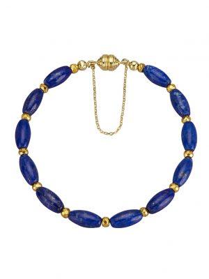 Armband mit Lapislazuli und Pyrit Diemer Farbstein Blau