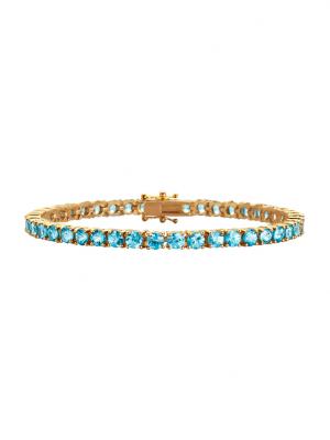 Armband mit Zirkonen Diemer Farbstein Blau