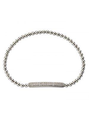 Armschmuck 925/- Sterling Silber Diamant Diamant 18cm Glänzend 0,02 Celesta Silbergrau