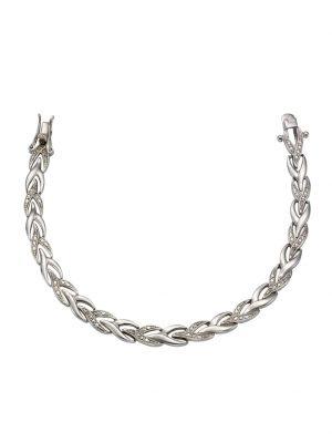 Armschmuck 925/- Sterling Silber Diamant Diamant 19 Glänzend 0,13 Celesta Silbergrau