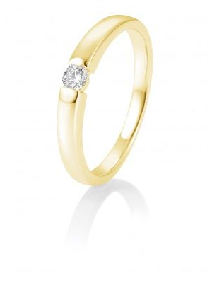 Breuning 41/82129-0 Ring Brillant 0,10 ct W-si 14 kt Gelbgold