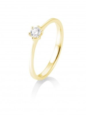 Breuning 41/82143-0 Ring Brillant 0,15 ct W-si 14 kt Gelbgold